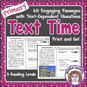 Close reading and comprehension passages with questions