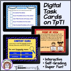 Boom Learning and Teachers Pay Teachers have agreed to allow Boom Cards to be sold on TpT! Boom Cards are digital interactive task cards that you can use in your classroom - save time on printing and laminating! Click through to get more information!