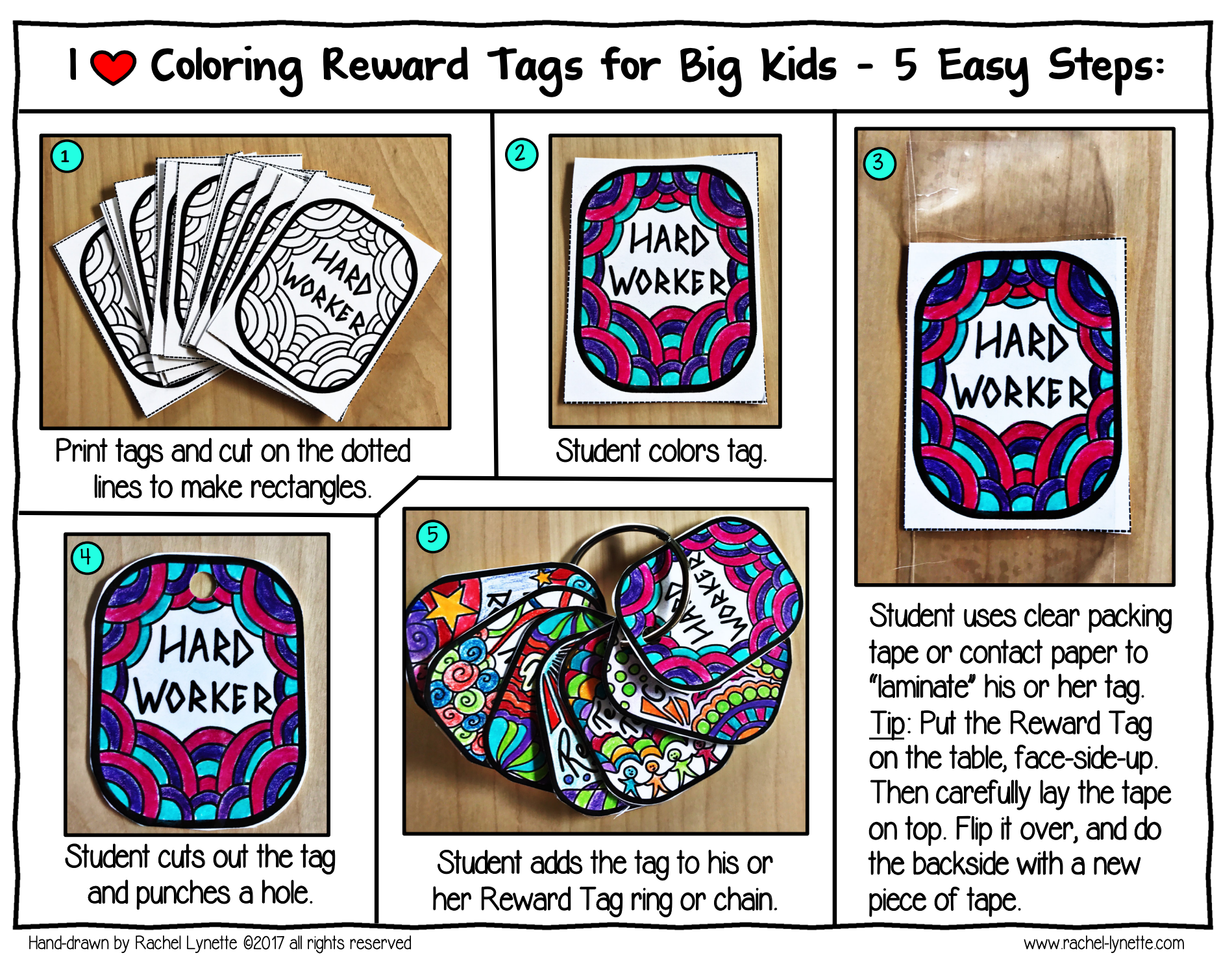 It's easy for students to create their own Reward Tags!