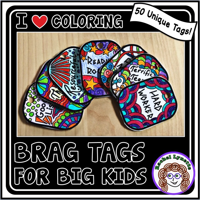 Brag tags are a popular and useful classroom management tool that have been around for a while. However, they're usually not very interactive. Check out these new brag tags that students can color once they earn them! Click through to learn more.