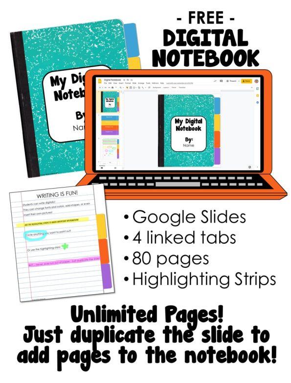 Free Google Slides Digital Notebook
