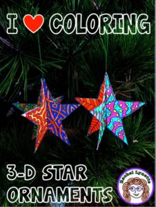 Celebrate the holidays with these fun 3-D star ornaments! Your students can color these templates and mix and match them to make festive 3-D stars! Click through to read about different ways to mix up the templates.