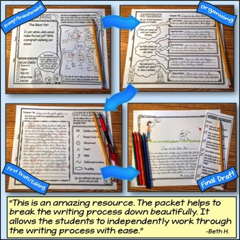 Paragraph writing printables