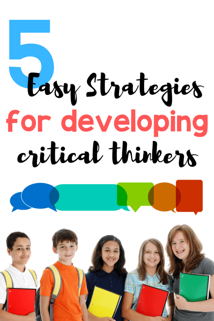 It should always be a teacher's goal to promote critical thinking in the classroom. This guest post on Minds in Bloom shares five easy strategies for developing critical thinkers -- and they're not tricky! Click through to get ideas for teaching students to think critically in the classroom.