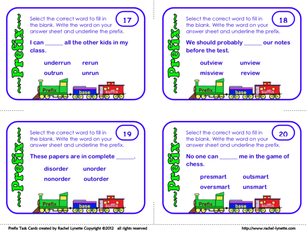 picture regarding Prefixes and Suffixes Printable Games named 15 Participating Methods in the direction of Coach Prefixes and Suffixes - Minds within just Bloom