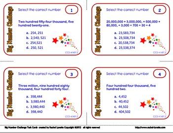 place value task cards multiple choice cards for ccss 4 nbt 2 minds in bloom. Black Bedroom Furniture Sets. Home Design Ideas