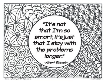 Growth Mindset Coloring Pages Growth Mindset Quotes Set