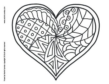 Heart Coloring Pages For Valentine S Day Minds In Bloom