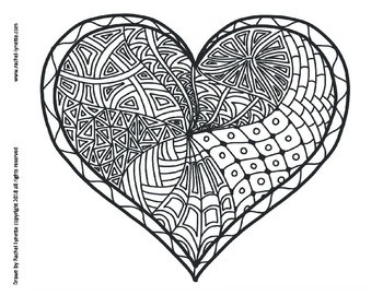 Heart Coloring Pages for Valentine's Day! - Minds in Bloom