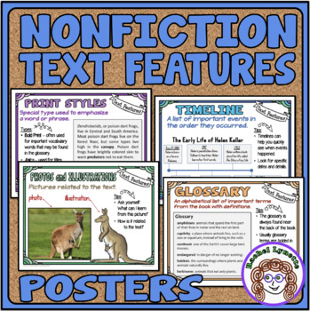 Nonfiction Text Features Posters Mini Anchor Charts For Word Walls Reference Minds In Bloom