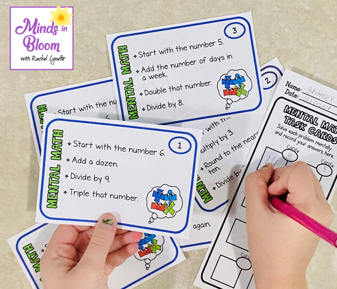 Use task cards for practice or assessment.