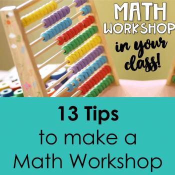 Math workshop tips