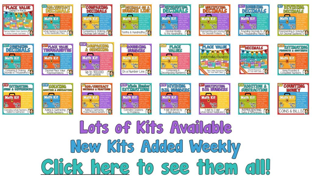 Math Kits with Distance Learning