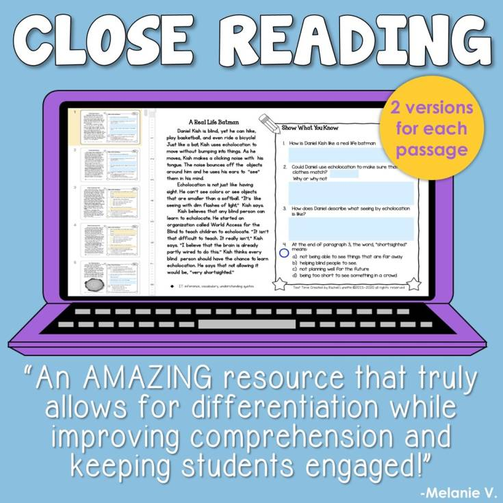 Check Out Our Close Reading Products