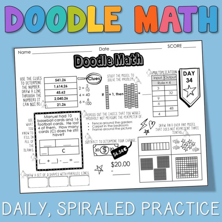 Engaging Daily Spiraled Math Practice