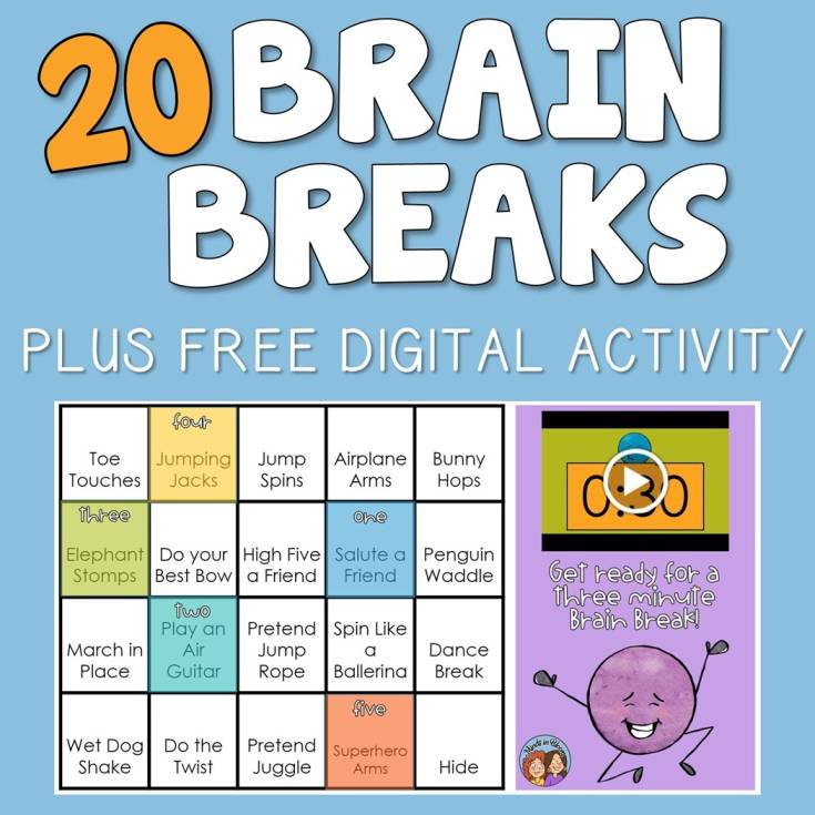20 Ideas for Quick Brain Breaks