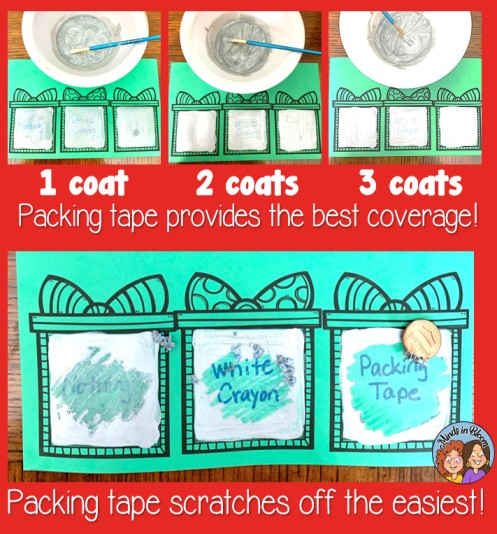 Christmas Scratch off paint examples