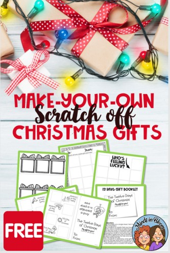 Make-Your-Own Christmas Scratch Offs
