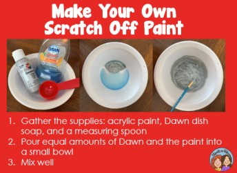Make your own scratch off paint