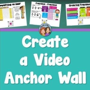 anchor charts, word walls, and videos