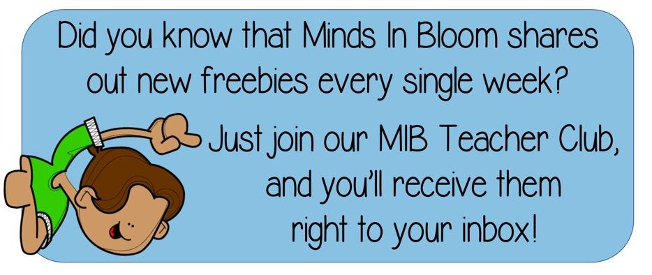 Minds in Bloom freebies