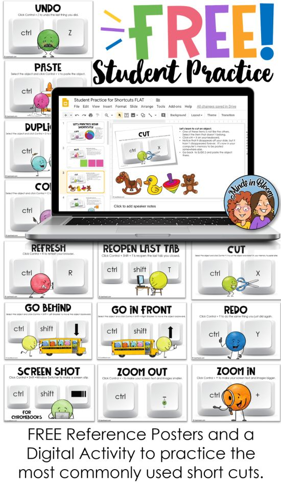 Keyboard Shortcuts Student Practice
