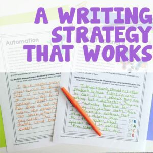 A Writing Strategy that Works